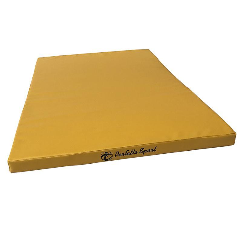Мат гимнастический PERFETTO SPORT № 13 120 х 120 х 5 см (желтый, экокожа, поролон)
