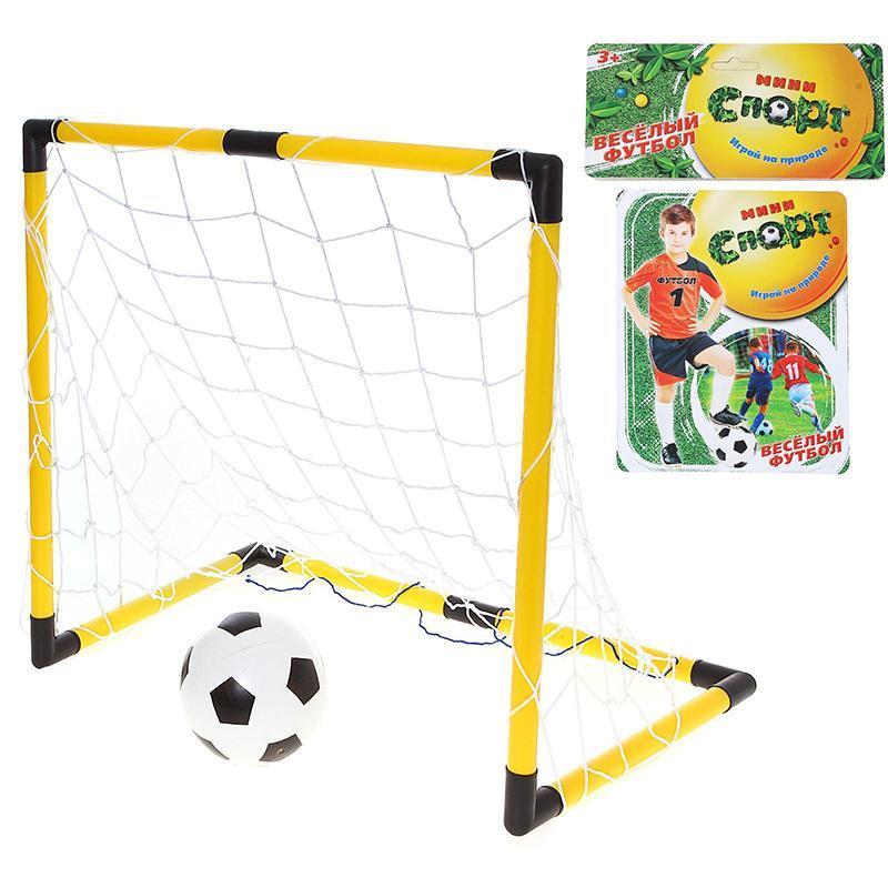 Ворота футбольные СЛ 100 х 35 х 66 см  (в комплекте сетка, мяч d=16 см)