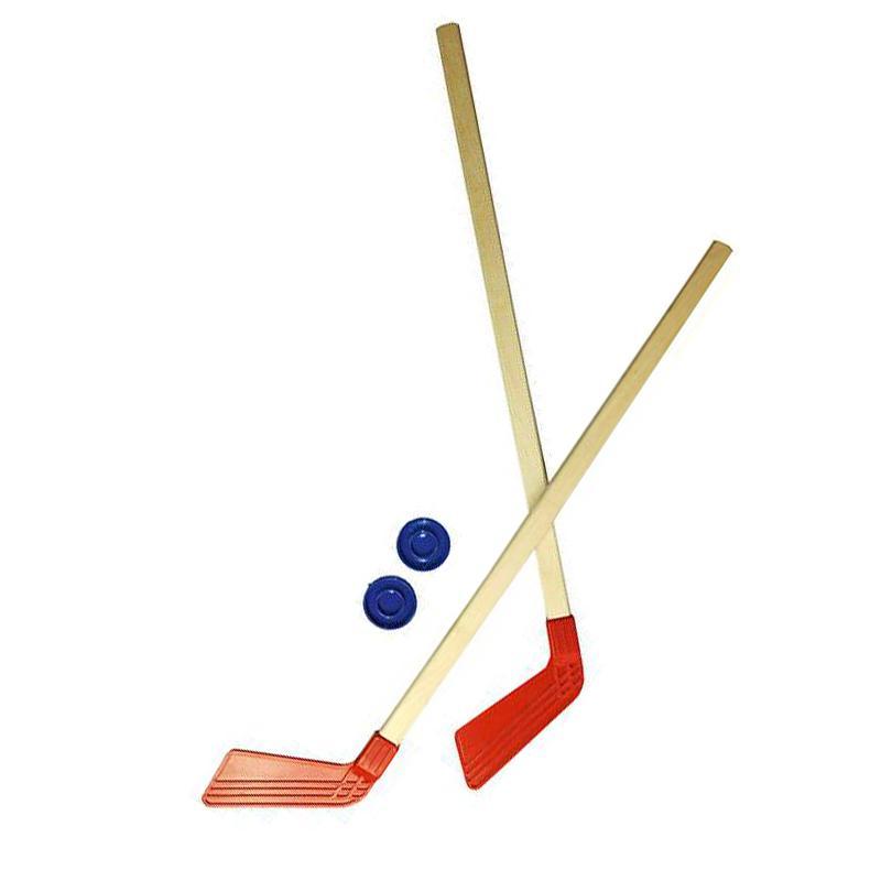 Набор-клюшка детская хоккейная 2 шт + 2 шайбы АС КХ-2-55