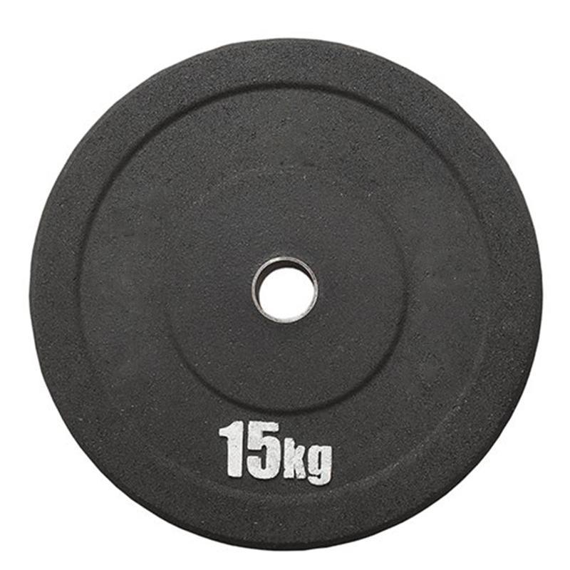 Диск бамперный IK из резиновой крошки со стальной втулкой 15 кг, диаметр 51 мм