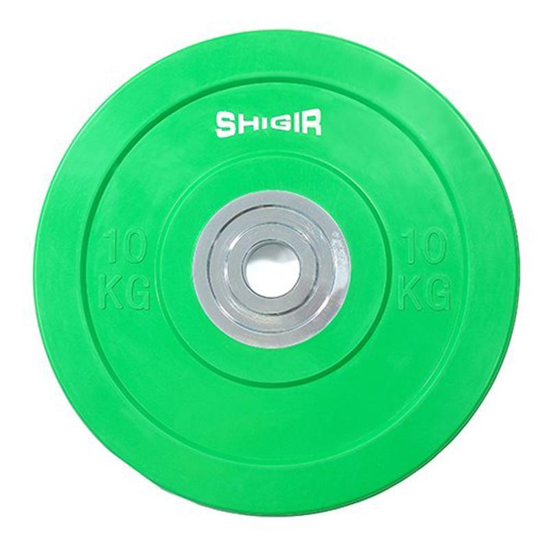 Диск бамперный SHIGIR со стальной втулкой 10 кг, диаметр 51 мм