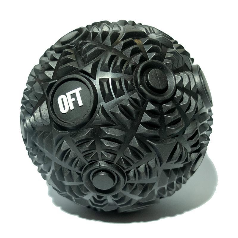 Мяч массажный FT-CYBERBALL 12 см Premium Black
