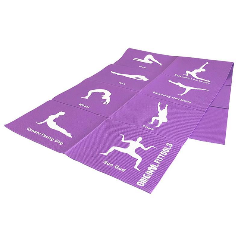 Коврик для йоги складной FT-YGMF-04 173 x 61 x 0,4 см