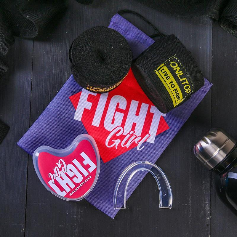 Набор боксерский SL Fight (капа, бинты для бокса 2 шт)
