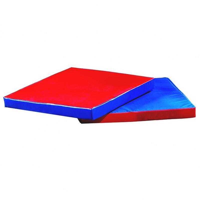 Мат гимнастический квадрат ОС-АС 1000 x 1000 x 100 мм (тент, противоскользящий материал антислип, сертификат пожар.безоп. Г1)