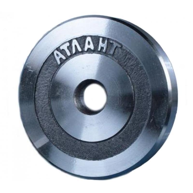 Диск металлический АТЛАНТ вес 1 кг диаметр 26мм