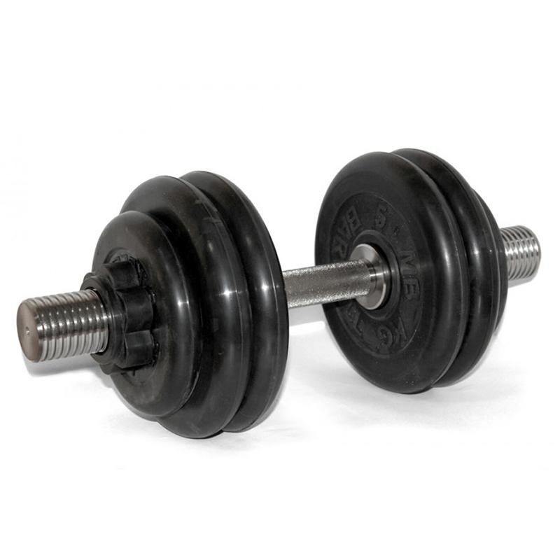 Гантель обрезиненная разборная АТЛЕТ 31,5 кг