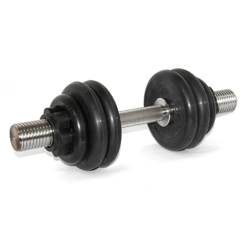 Гантель обрезиненная разборная АТЛЕТ 19 кг
