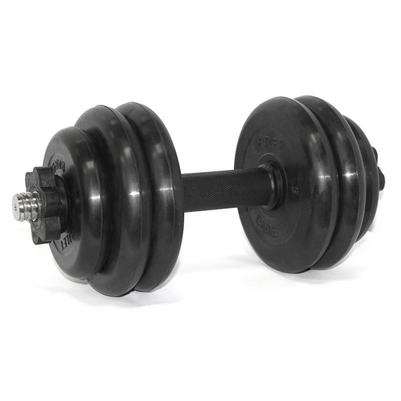 Гантель обрезиненная разборная АТЛЕТ 15 кг