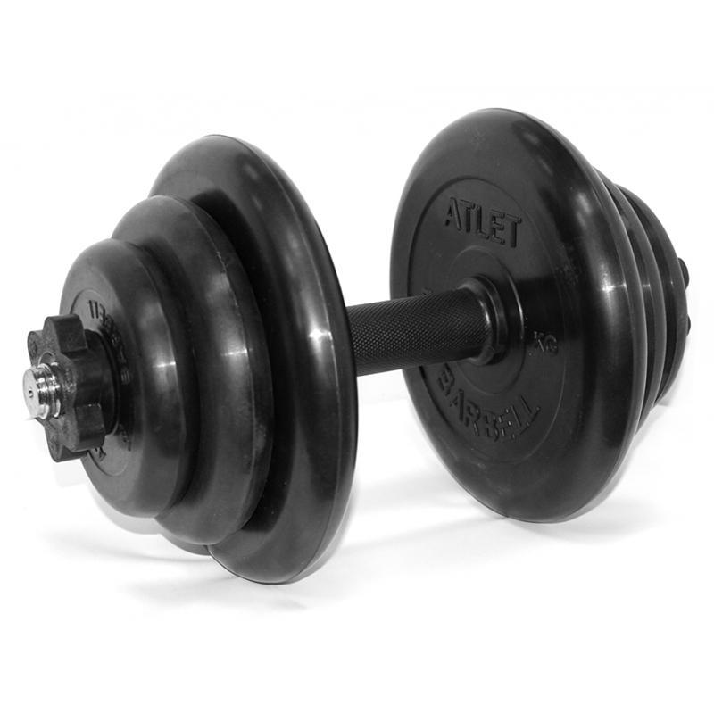 Гантель обрезиненная разборная АТЛЕТ 20 кг