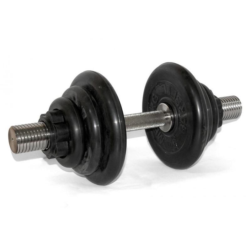 Гантель обрезиненная разборная АТЛЕТ 24 кг
