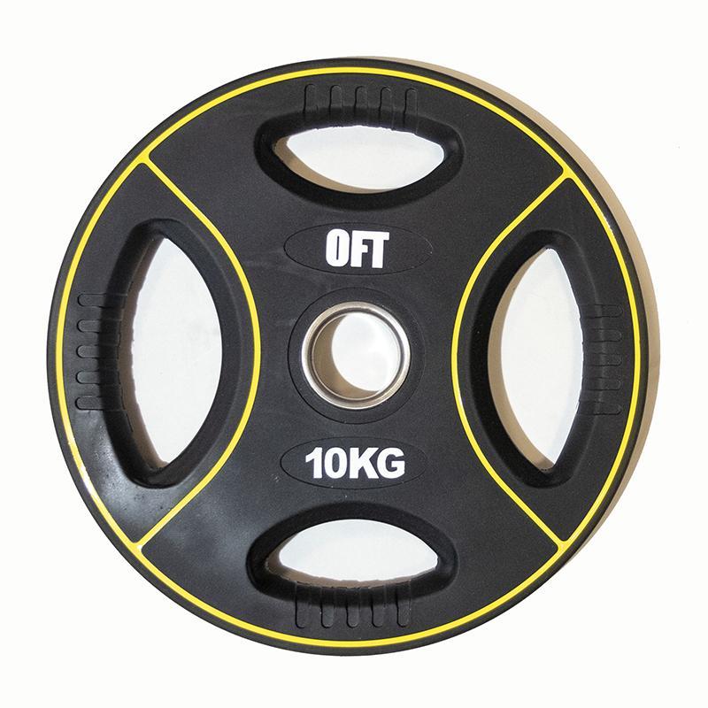 Диск для штанги олимпийский полиуретановый 10 кг, диаметр 51 мм