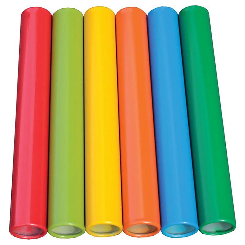 Эстафетные палочки алюминиевые разноцветные АТЛАНТ Тренировочные длина 30 см, 90 гр, 32 мм (набор 8 шт.)