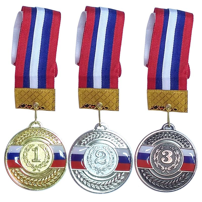 Медаль 6,5 см c лентой в комплекте СХ F1852