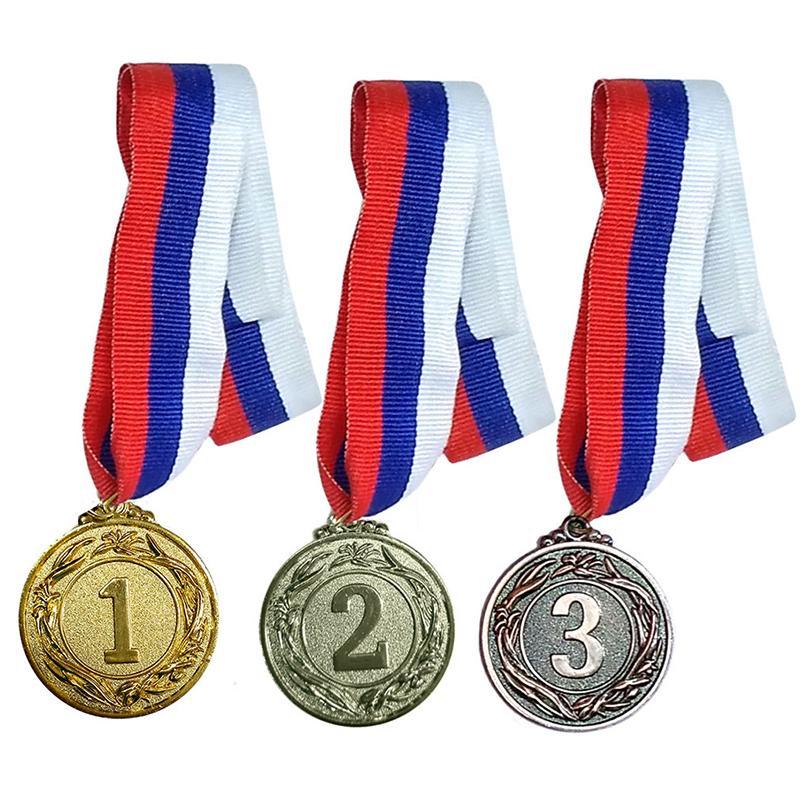 Медаль 4,5 см c лентой в комплекте СХ F18526-18528