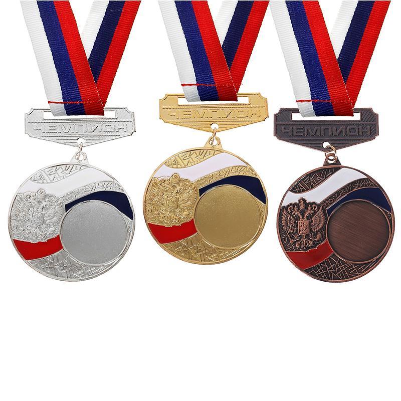Медаль 5 см SL под нанесение 157 (с лентой)