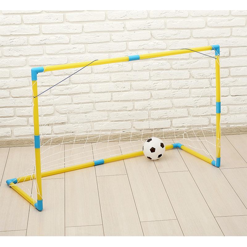 Ворота футбольные SL 110х42х80 см (в комплекте сетка, мяч d=16 см)