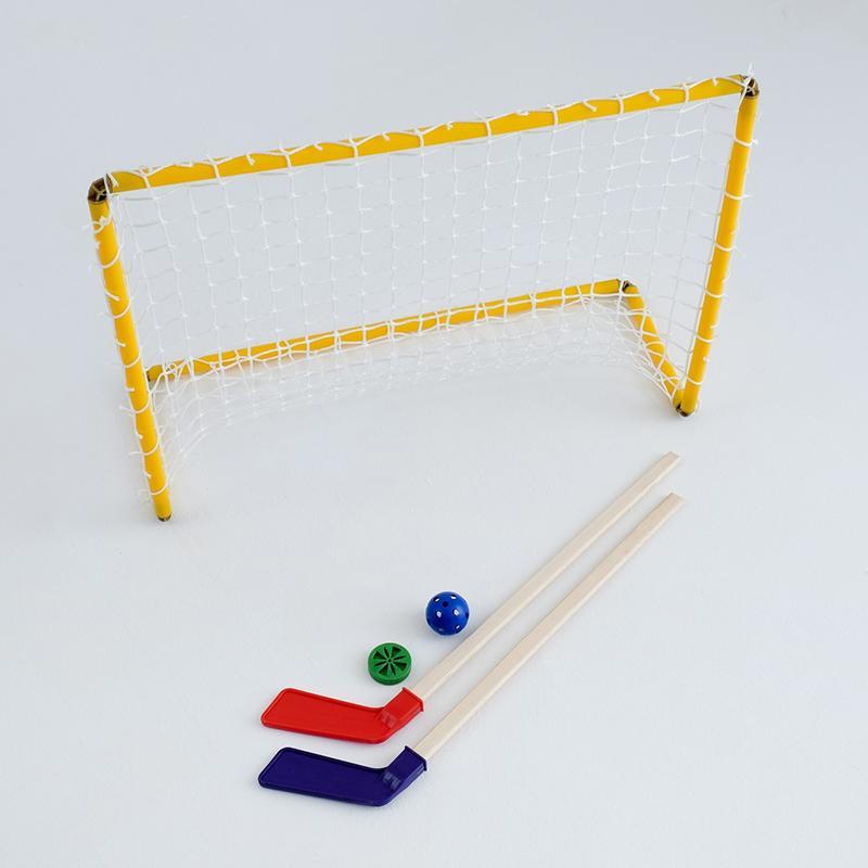 Набор хоккейный SL 5 в 1 (ворота, 2 клюшки, шайба, мячик)