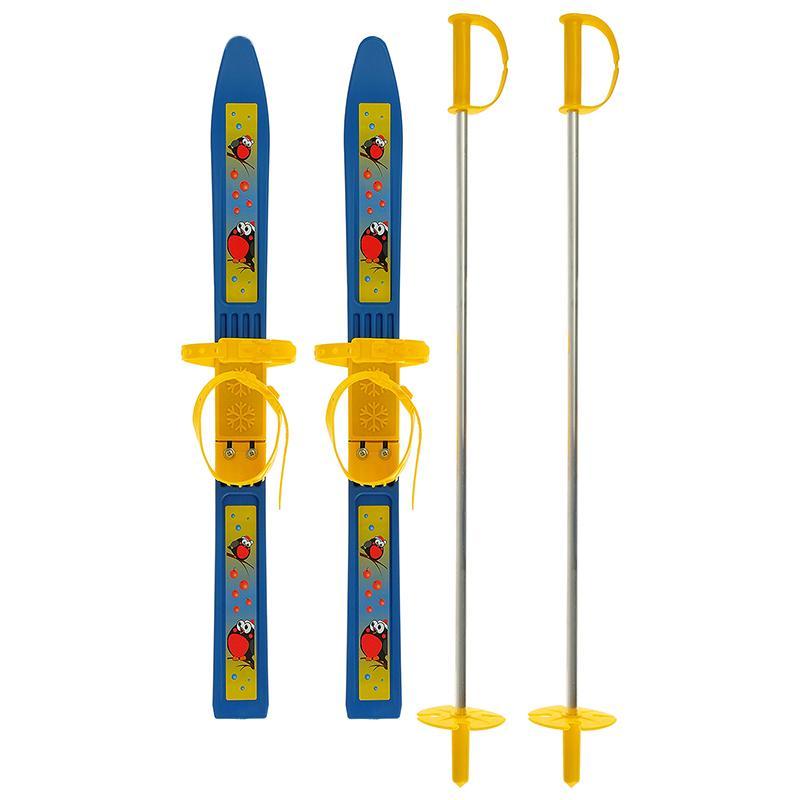Мини-лыжи Олимпик с палками длина 650 мм