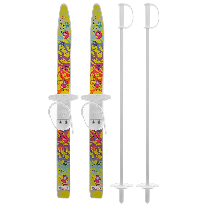Лыжи детские Лыжики-Пыжики с палками длина 750 мм