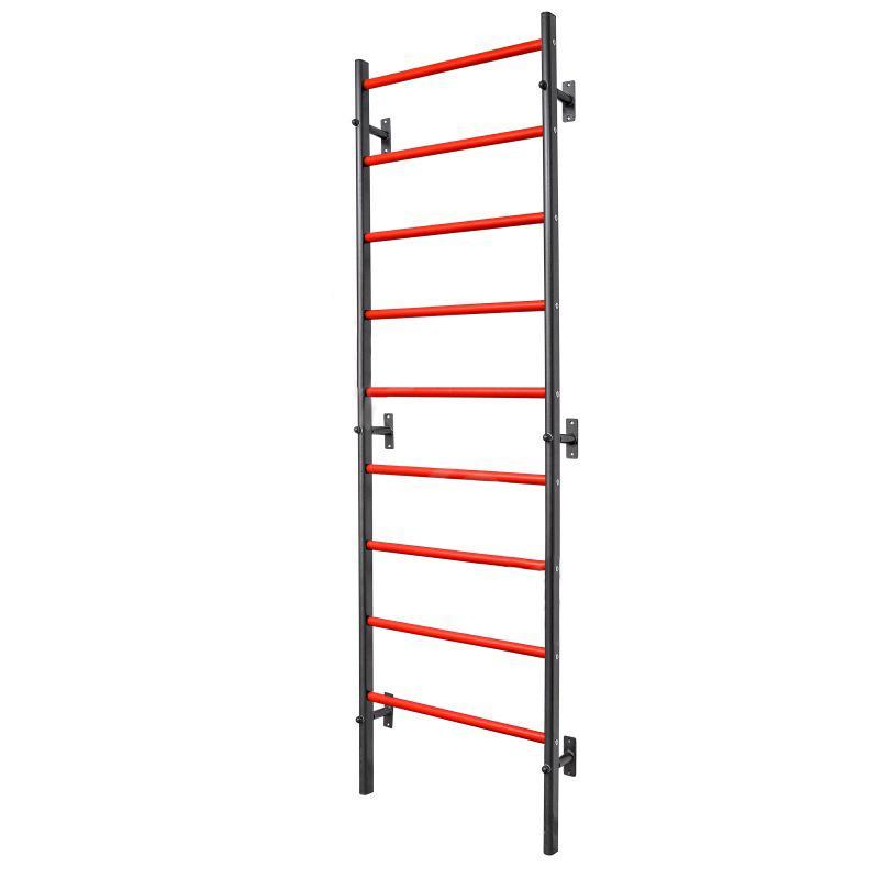 Шведская стенка металлическая плоскоовальная 240 х 71 см высокопрочная с усиленными ПВХ ступенями АТЛАНТ М-219