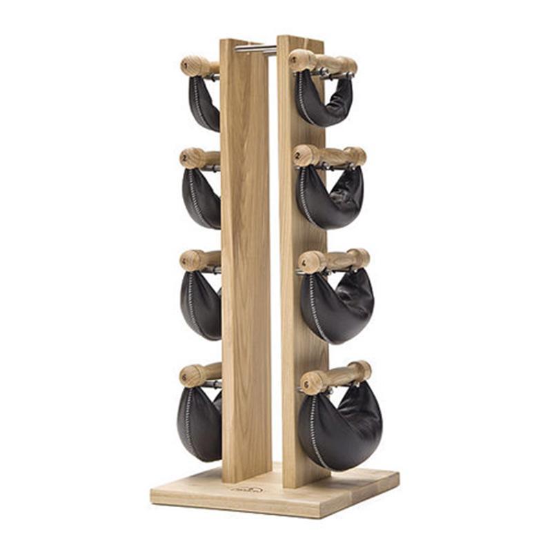 Набор гантелей с подставкой NOHrD MF Swing Turm (1 кг, 2 кг, 4 кг, 6 кг, ясень)