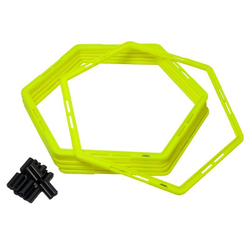 Набор шестиугольных напольных обручей JOGEL Agility Hoops (JA-216), 6 шт.
