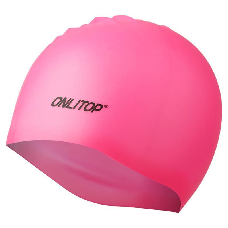 Шапочка для бассейна силиконовая однотонная Onlitop