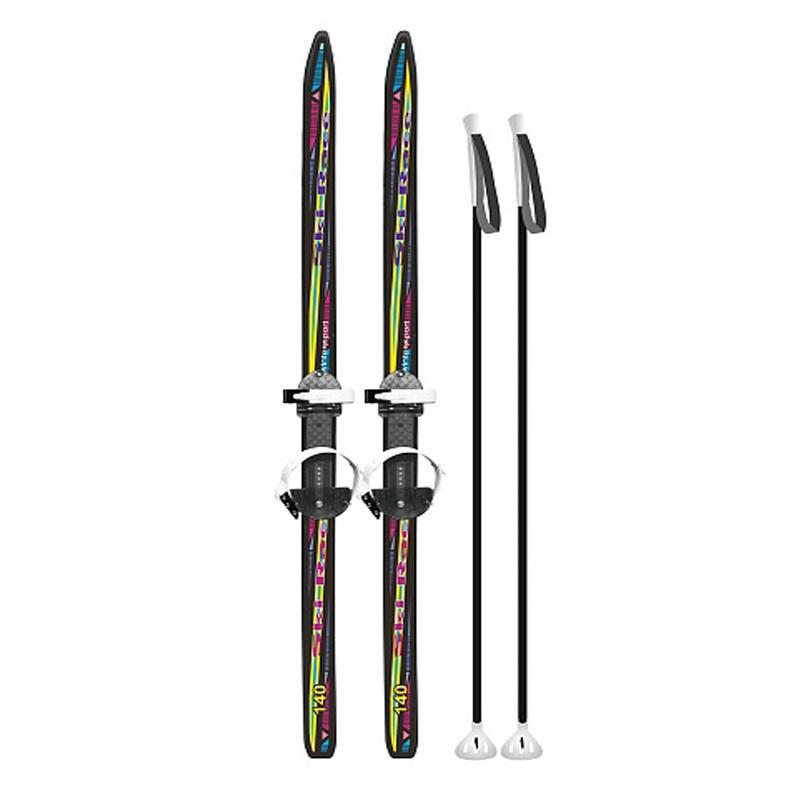 Лыжный комплект подростковый 120-150 см SKI RACE с пластиковыми креплениями под обувь