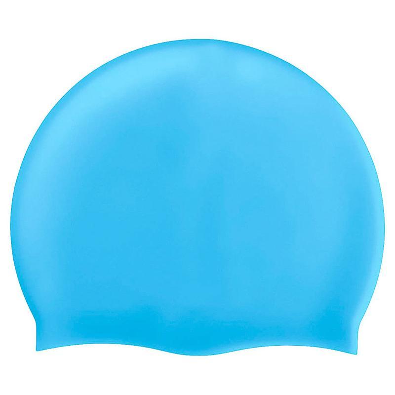 Шапочка для плавания силиконовая одноцветная СХ B31520