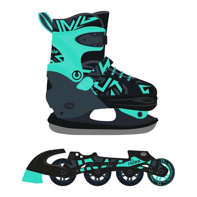 Раздвижные роликовые коньки-трансформеры RIDEX Cool