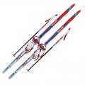 Лыжный комплект 100-150 см  с насечками  и креплениями под обувь (комби)