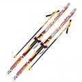 Лыжный комплект 100-150 см с насечками и креплениями под обувь (кабель)