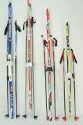 Лыжный комплект подростковый 150-175 см с насечками и креплениями NN 75