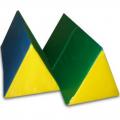 Треугольная призма 30х30х30см L 60 (поролон, винилискожа) арт.4010