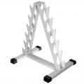 Стойка для гантелей АТЛАНТ АС-6 фигурная пирамида на 12 позиций (6 пар гантелей)