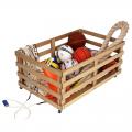 Контейнер для хранения спортинвентаря АТЛАНТ передвижной мобильный деревянный