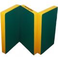 Мат гимнастический складной Kampfer 150х100х10 см (цветной, винил-кожа, поролон)