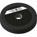 Диск пластиково-металлический 1,5 кг черный диаметр 25 мм
