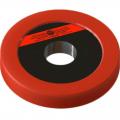 Диск пластиково-металлический 0,5 кг красный диаметр 25 мм
