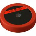 Диск пластиково-металлический 5 кг красный диаметр 25 мм