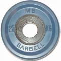 Диск обрезиненный цветной олимпийский MB Barbell Евро-классик вес 2,5 кг диаметр 51 мм