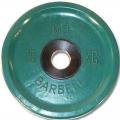 Диск обрезиненный цветной олимпийский MB Barbell Евро-классик вес 10 кг диаметр 51 мм