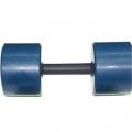 Гантель фитнес цветная обрезиненная 9 кг