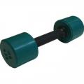 Гантель фитнес цветная обрезиненная 4 кг