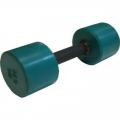 Гантель фитнес цветная обрезиненная 5 кг