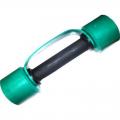 Гантель фитнес цветная обрезиненная 2 кг