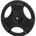 Диск чугунный окрашенный EURO-CLASSIC с хватами 15 кг диаметр 26 мм