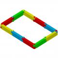 Детская пластиковая песочница ЭКП Прямоугольник большой Ф