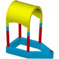 Детская пластиковая песочница ЭКП Кораблик П5К